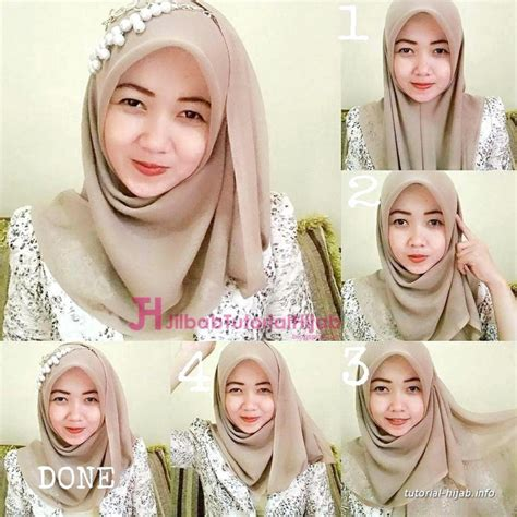 tutorial jilbab pesta segi 4 23 tutorial hijab paris segi empat simple dan modis