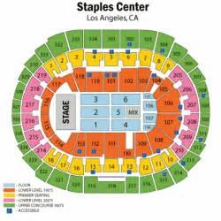 staples center concert seating chart staples center