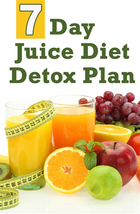 1 Week Juice Detox Plan by Weight Loss Detox Plans Detox Diet Cleanse Autos Post