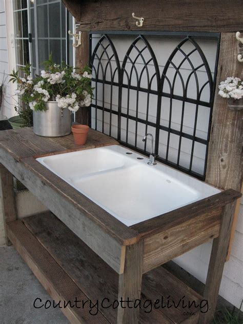 potting table with sink pretty potting bench ideas barn wood potting tables and