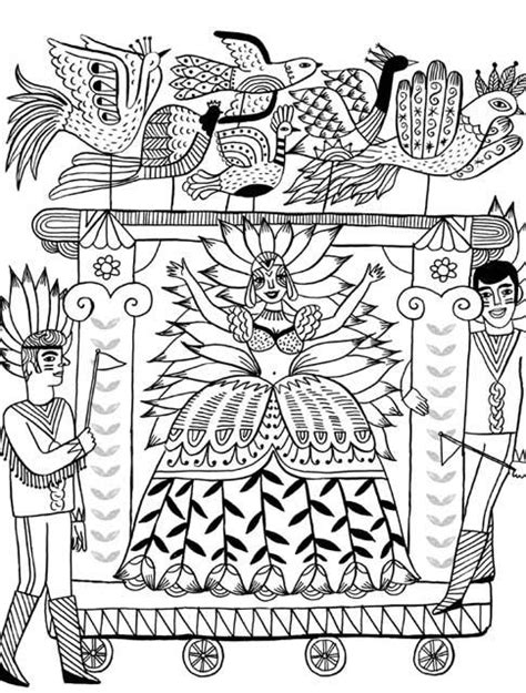 Mexican Folk Art Coloring Pages Mexican Folk Coloring Pages