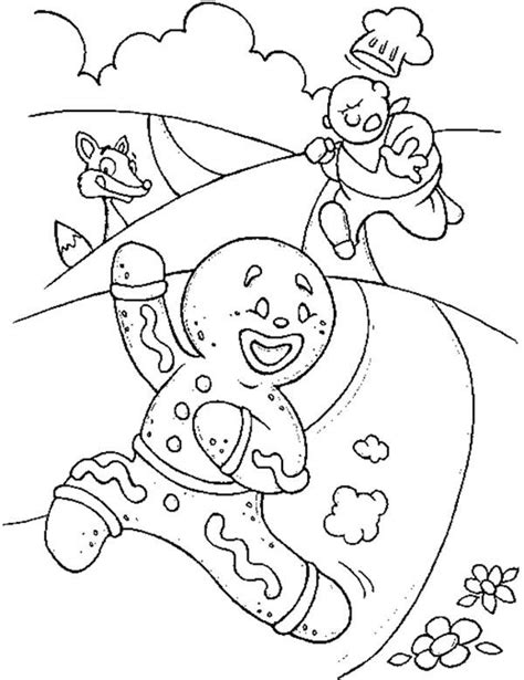 gingerbread man characters coloring pages gingerbread man story clipart 61