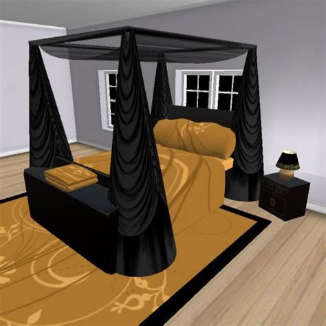 black and gold bedroom furniture second life marketplace darque passions 169 bedroom furniture black gold box