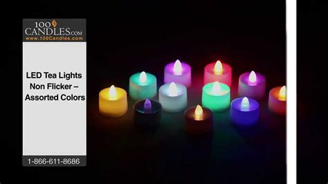 teal flickering led tea light candle