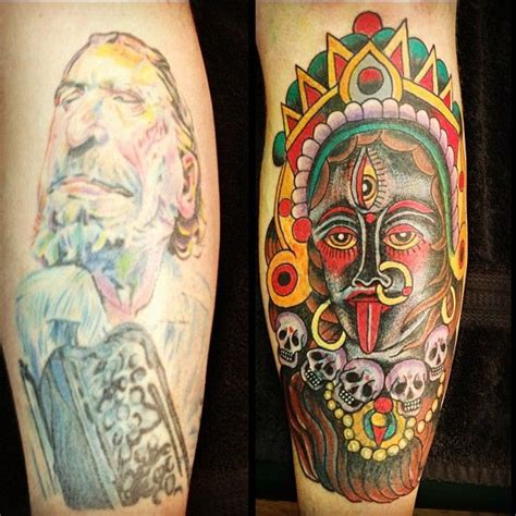 portrait tattoo process aging color portrait tattoo covered by robert ryan