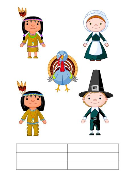 Thanksgiving Finger Puppets Thanksgiving Finger Puppet Templates