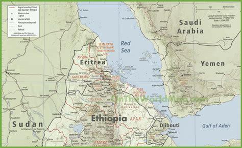 eritrea map eritrea karte provinzen