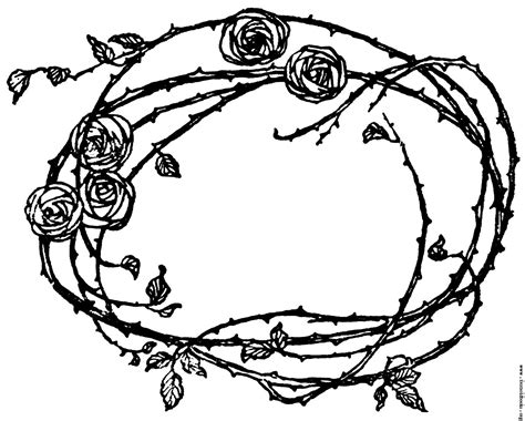 border rose tattoo 12 pics of with thorns coloring page hearts and