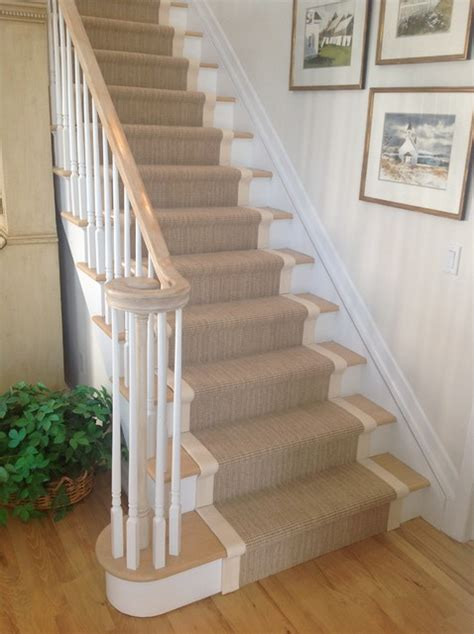 Runners For Stairs wide binding sisal runners traditional staircase new york by custom stair runners