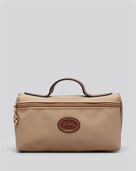 Longch Le Pliage Neo Handle Cosmetic Bag Large All Colour longch cosmetic le pliage in beige lyst