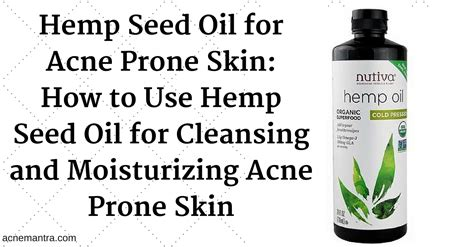 How To Detox The After Taking Apricot Seeds by 3 Ways To Use Hemp Seed For Acne Acne Mantra