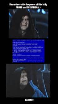 Star Wars Emperor Meme - emperor palpatine star wars tech support meme