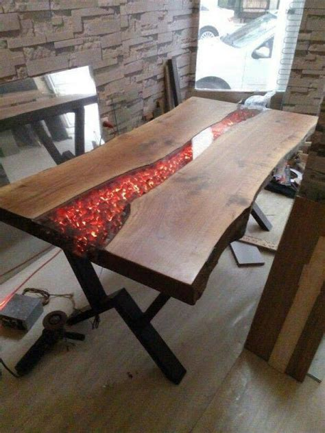 Guide Epoxy Resin Pouring Glue A Transparent Table Mirror