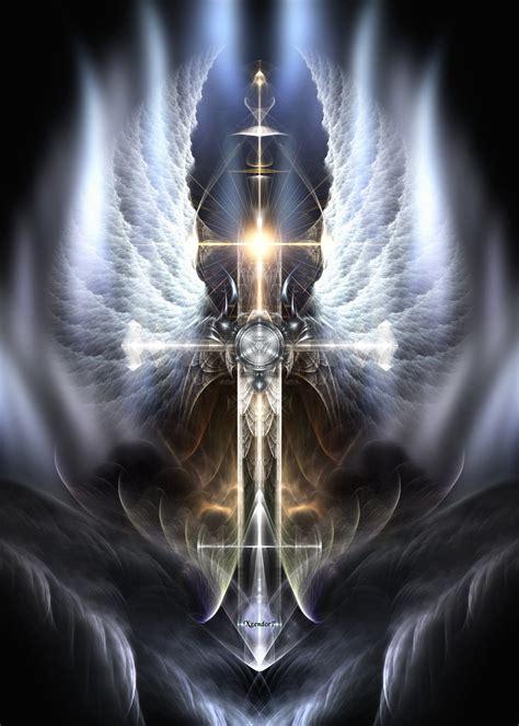 Heavenly Angel Wings Cross By Xzendor7 On Deviantart Archangel Michael