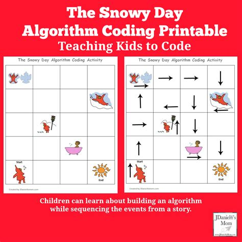 printable html codes teaching kids to code the snowy day algorithm coding