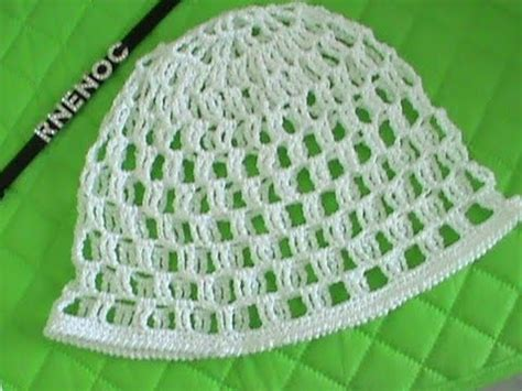 como tejer gorros de crochet 2 de 2 como tejer gorro malla doble ganchillo crochet
