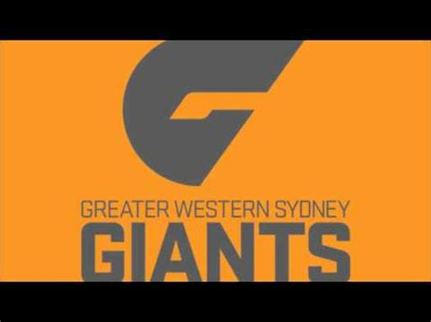 theme songs afl gws giants theme song youtube