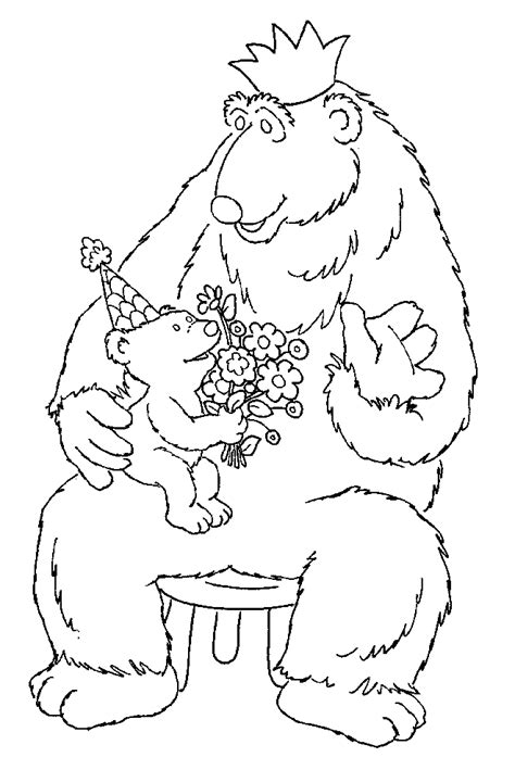kids page bear in the big blue house coloring pages