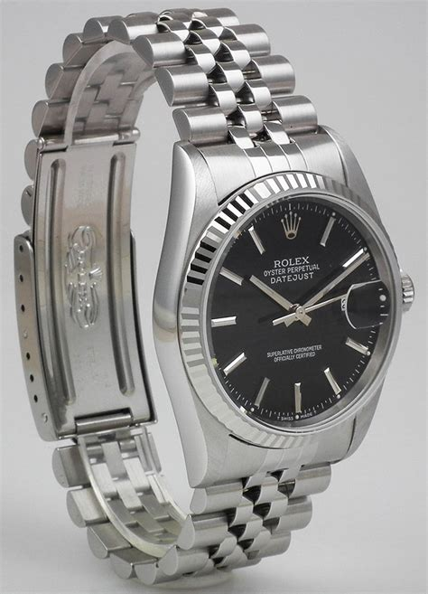 Rolex Stainless Steel Oyster Perpeptual DateJust   Black Dial (1996)