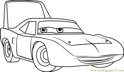 king cars coloring pages the king aka strip weathers from cars 3 coloring page
