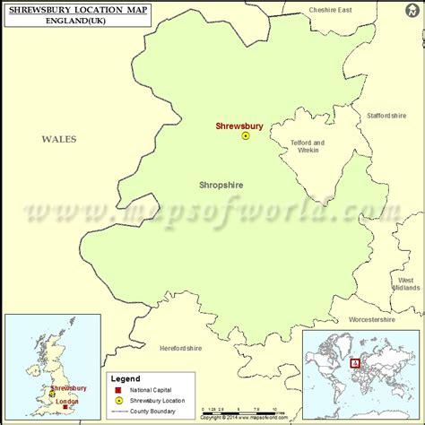where is shrewsbury location of shrewsbury in map