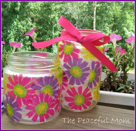 Decoupage For Children - decoupage jar craft the peaceful
