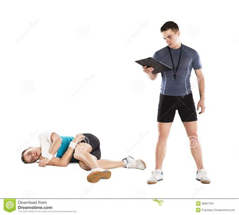 exercise couch fitness coach stock images image 30997764