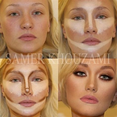 Highlight And Contour before and after highlight contour amazing