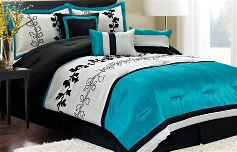 aqua bedding sets turquoise and black color scheme archives panda s house 1 interior decorating idea
