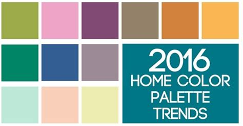 color palette 2016 9 home decor color trends to look for in 2016