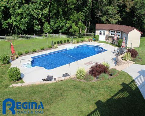 roman pool roman backyard and swimming pools roman shaped vinyl liner swimming pool located in glen arm