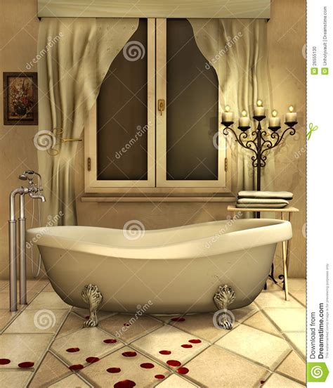 bathroom candles bathroom with candles stock illustration image of