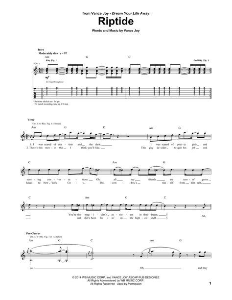 printable riptide lyrics riptide guitar tab by vance joy guitar tab 156510