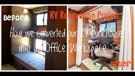diy rv renovation   converted  bunkhouse