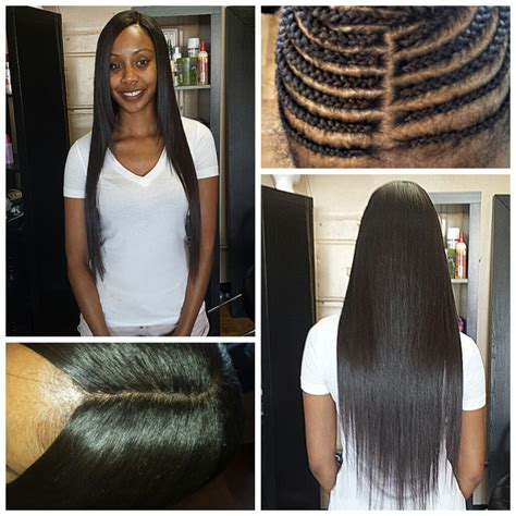 No hair left out full weave hair extensions with closure
