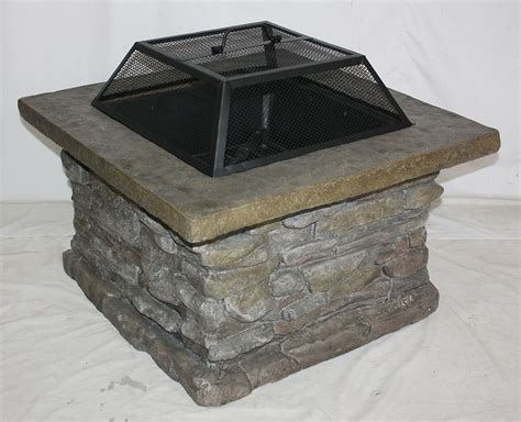 garden oasis pit outdoor patio slate rock pit keep warm with sears