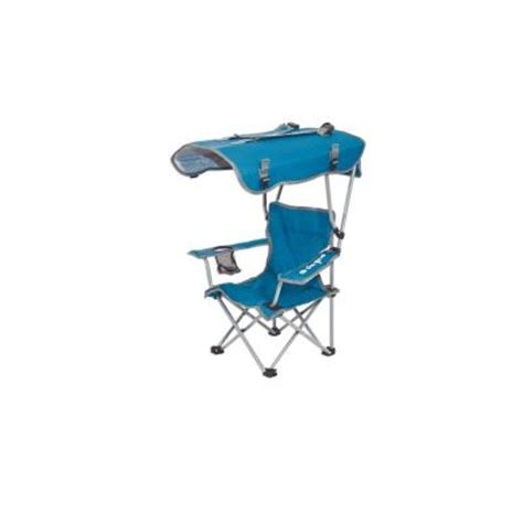 Fold Up Chair With Canopy by Kelsyus Folding Canopy Chair With Blue Seat 80316 The Home Depot