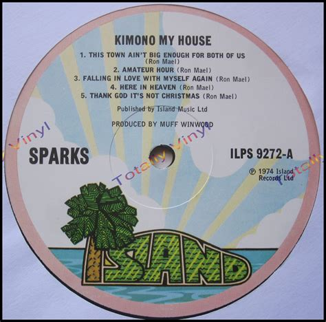 Records About My House Totally Vinyl Records Sparks Kimono My House Lp