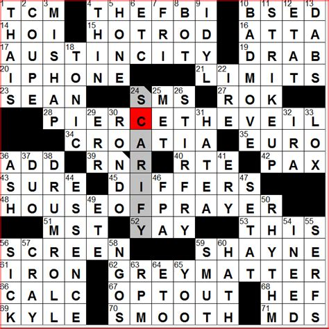 prime theme crossword clue diary of a crossword fiend thursday 11 26 09
