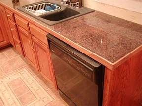 Kitchen Countertop Tile Design Ideas Remarkable Granite Tile Countertop Decorating Ideas