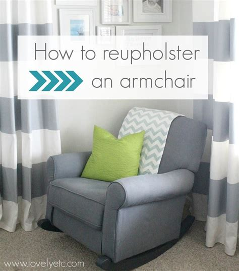 reupholster an armchair redhead can decorate