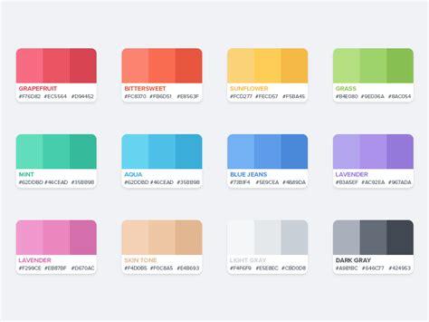 flat color palette flat color palette by azis hertanto dribbble