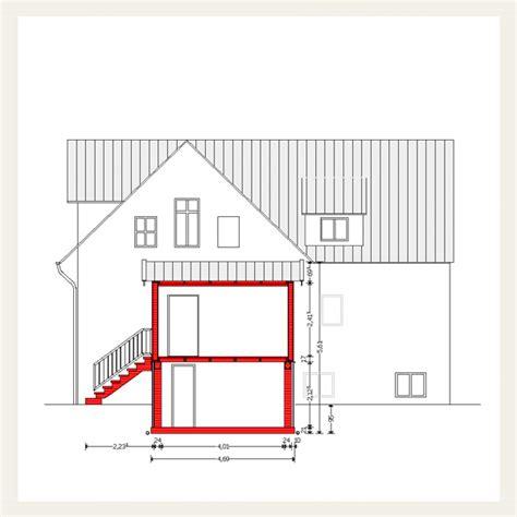 anbau bauantrag 005 energetische sanierung eines zweifamilienhauses mit