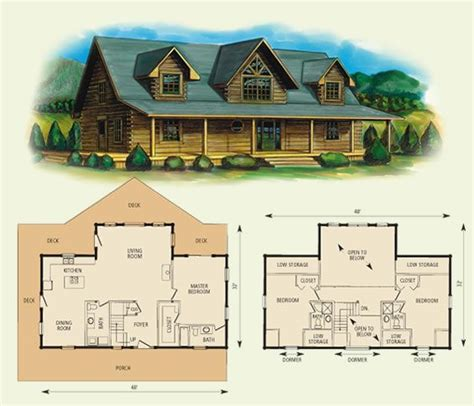 fair oaks log home and log cabin floor plan 2084sf
