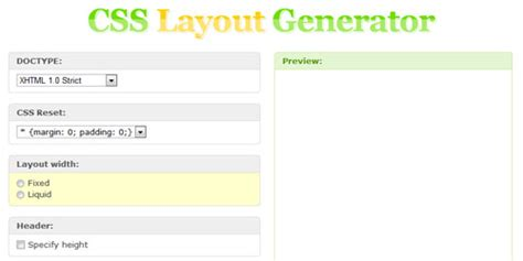 css layout generator html5 robobro roundup of css3 generators and tools