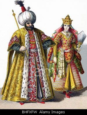 ottoman empire 1500 these figures represent a sultan and a sultana in the