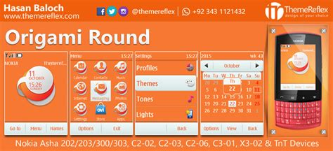 themes for nokia c2 03 touch and type free download origami round theme for nokia asha 202 203 300 303 c2