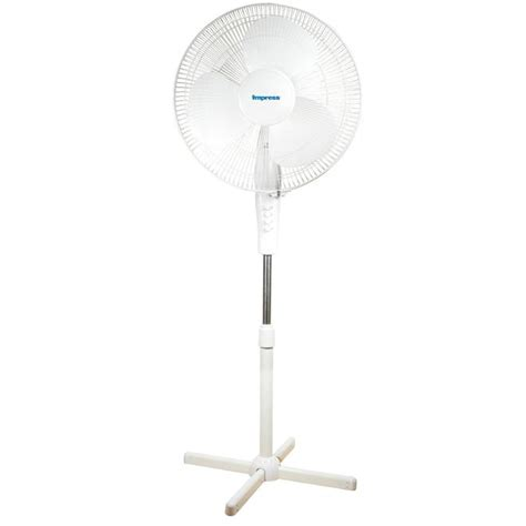 White Oscillating Pedestal Fan 97080480m impress 16 quot oscillating white stand fan sears outlet