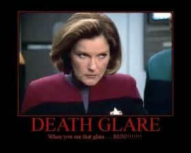 Star Trek Voyager Meme - captain kathryn janeway death glare i didn t create this