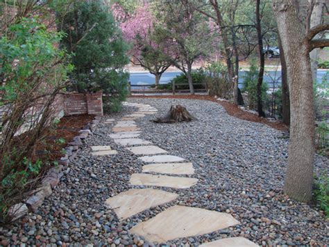 River Rock Garden Bed Rock Bed Landscaping Ideas Search Flowers Pinterest Landscaping Yards And